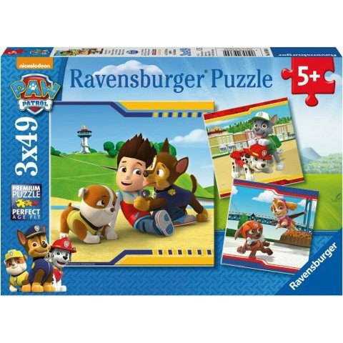 Puzzle Ryder's Team Patrula Catelusilor 3x49 Ravensburger